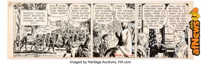 Milton Caniff Steve Canyon Daily Comic Strip Original Art dated 11-5-64