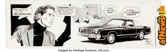 Al Williamson Secret Agent Corrigan Daily Comic Strip Original Art dated 5-31-75-afnews
