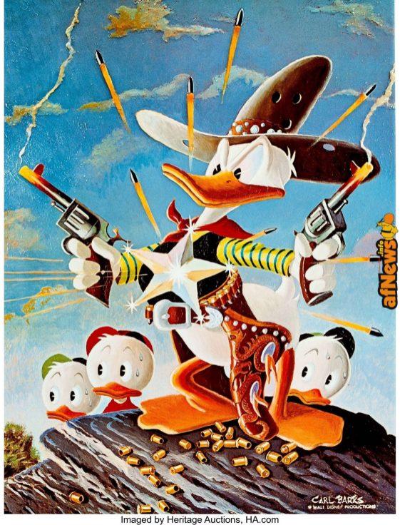 Carl Barks Sheriff of Bullet Valley Signed Limited Edition Print 236-500-afnews-afnews
