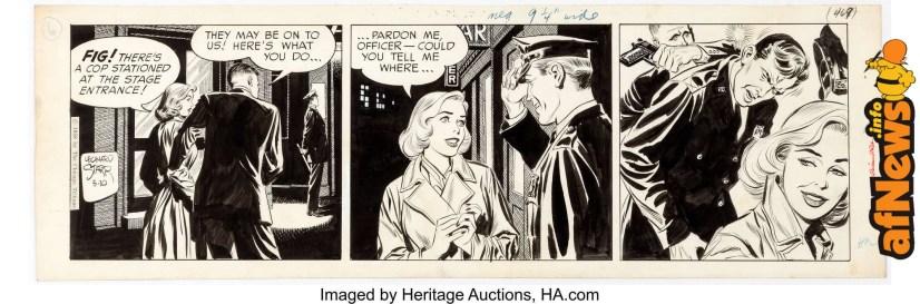 Leonard Starr Mary Perkins On Stage Daily Comic Strip Original Art dated 5-10-58-afnews-afnews