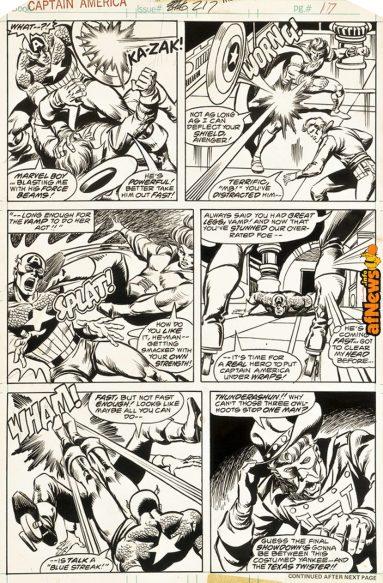 287 - Buscema, Capitan America 1978-afnews