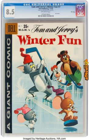 Dell Giant Comics Tom and Jerry Winter Fun 187 File Copy (Dell, 1958)-afnews