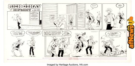 Stan Lynde Rick O'Shay Sunday Comic Strip Original Art dated 2-4-73 (Chicago Tribune, 1973)-afnews