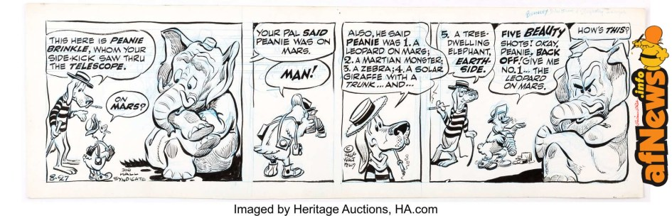 Walt Kelly Pogo Daily Original Comic Strip Art dated 8-27-66-afnews