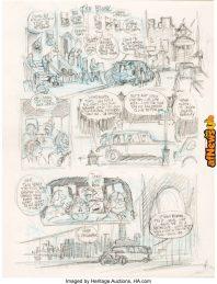 Will Eisner The Spirit 3632 The Block Story Page 4 Preliminary Original Art 1-afnews