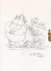 Illustration originale réalisée pour une carte de voeux du CNBDI Assterix Uderzo-afnews