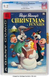 Dell Giant Comics Bugs Bunny Christmas Funnies 489 File Copy (Dell, 1958)-afnews