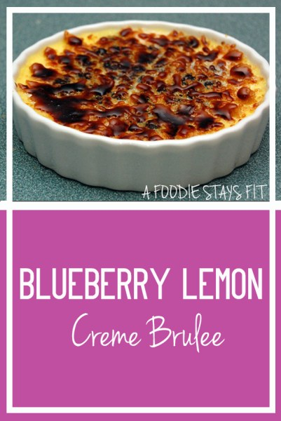 Blueberry Lemon Creme Brulee