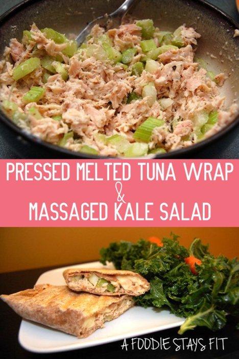 Pressed Melted Tuna Wrap & Massaged Kale Salad