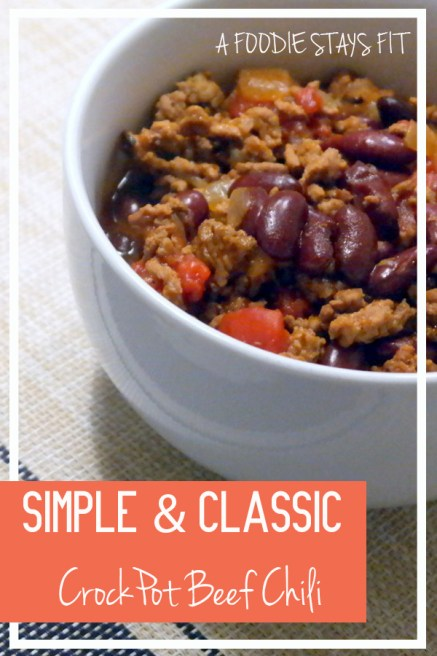 Simple & Classic CrockPot Beef Chili