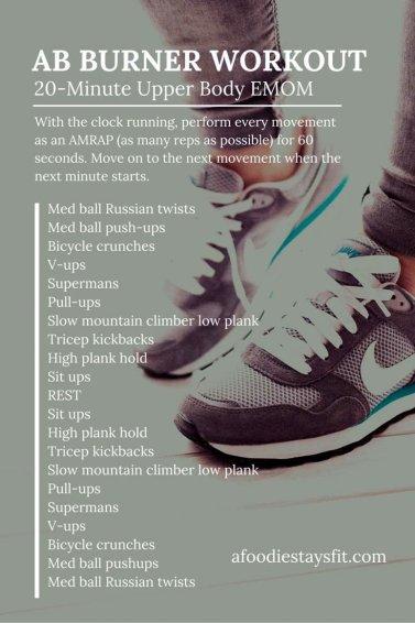 Ab & Upper Body Burner - love this short & intense workout!!
