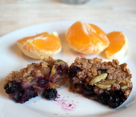 Blueberry Ginger Granola Muffins (gluten-free & dairy free!)