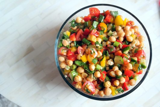 Chopped Chickpea Rainbow Salad