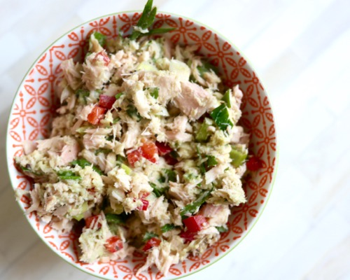 Healthy mayo-free tuna salad