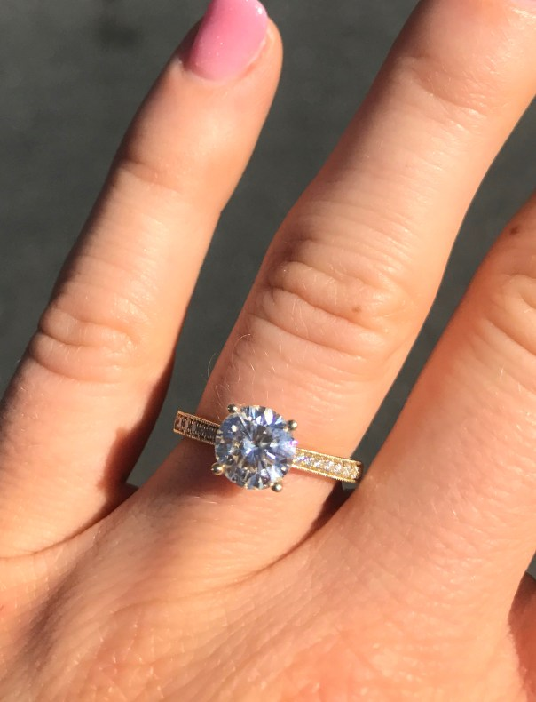 a foodie stays fit engagement ring