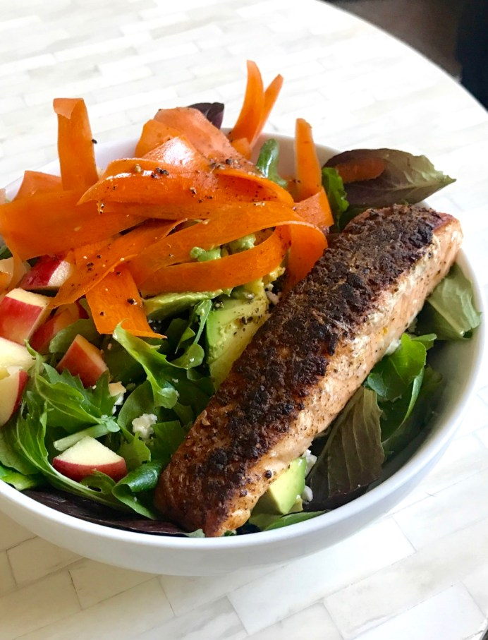 easy pan-seared salmon with skin