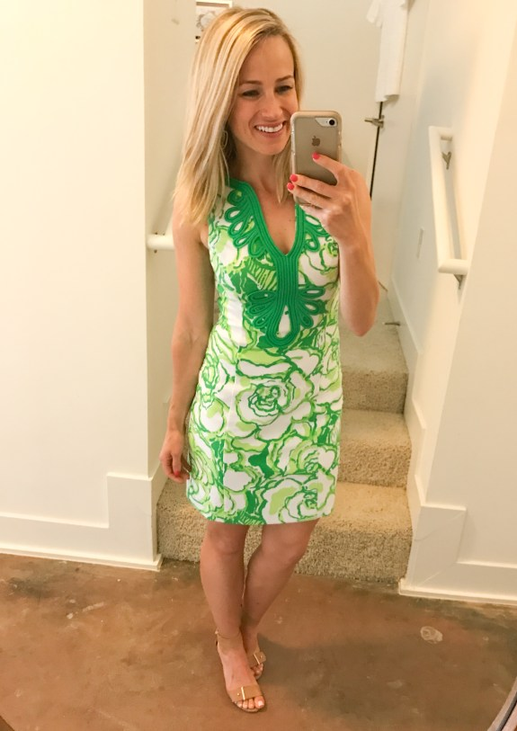 lilly pulitzer dress for muscular body