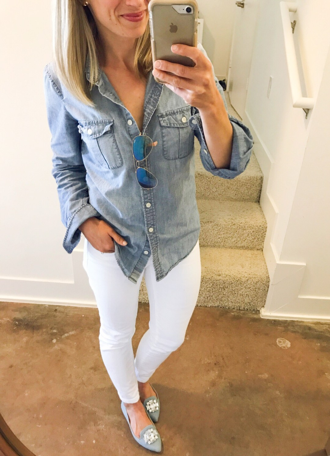 how to style a chambray