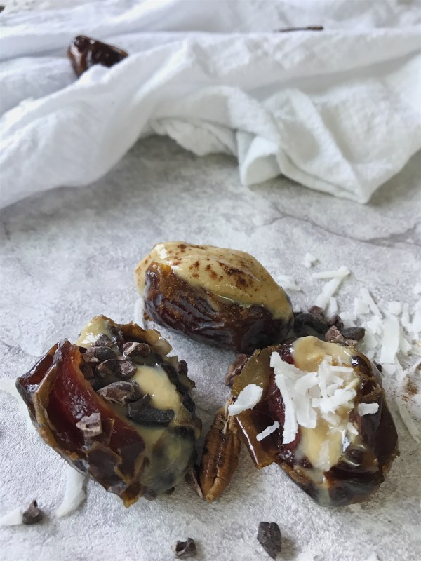 dates stuffed with tahini
