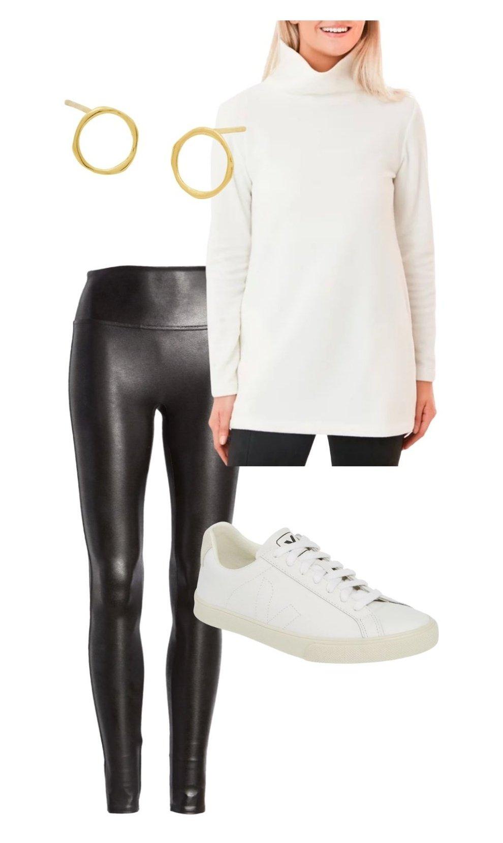 spanx leggings outfit idea