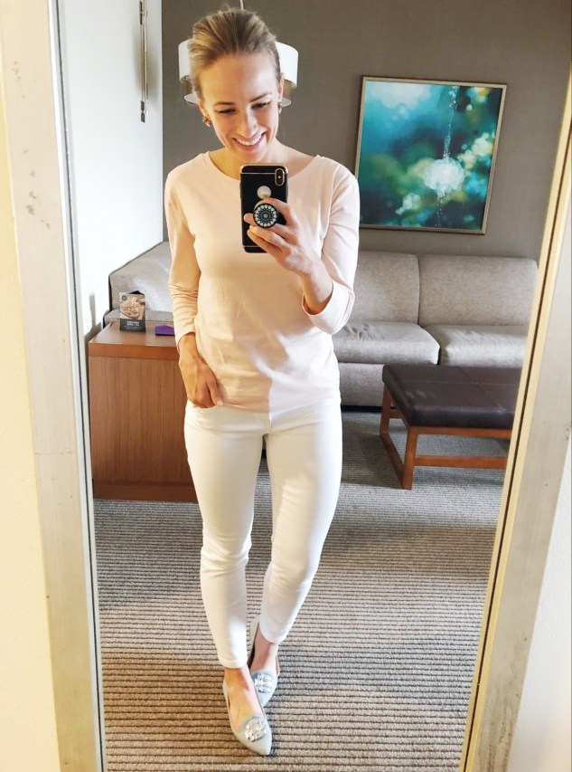 how to style white bottoms