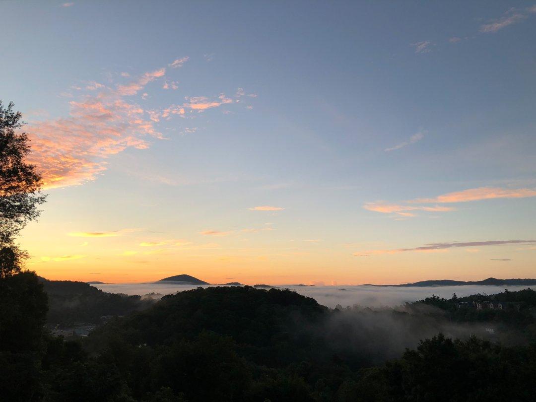 Blowing Rock, North Carolina boone sunrise