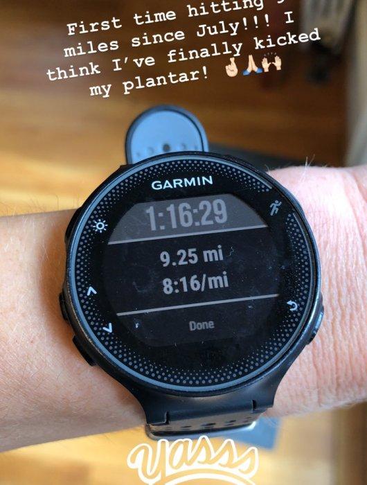 running after plantar fasciitis