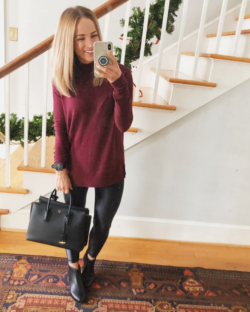 burgundy sweater for Fall