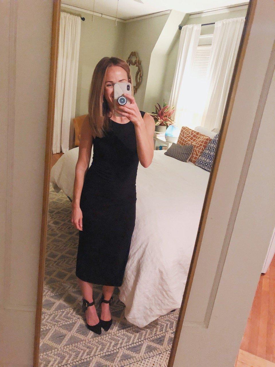 marine layer black dress
