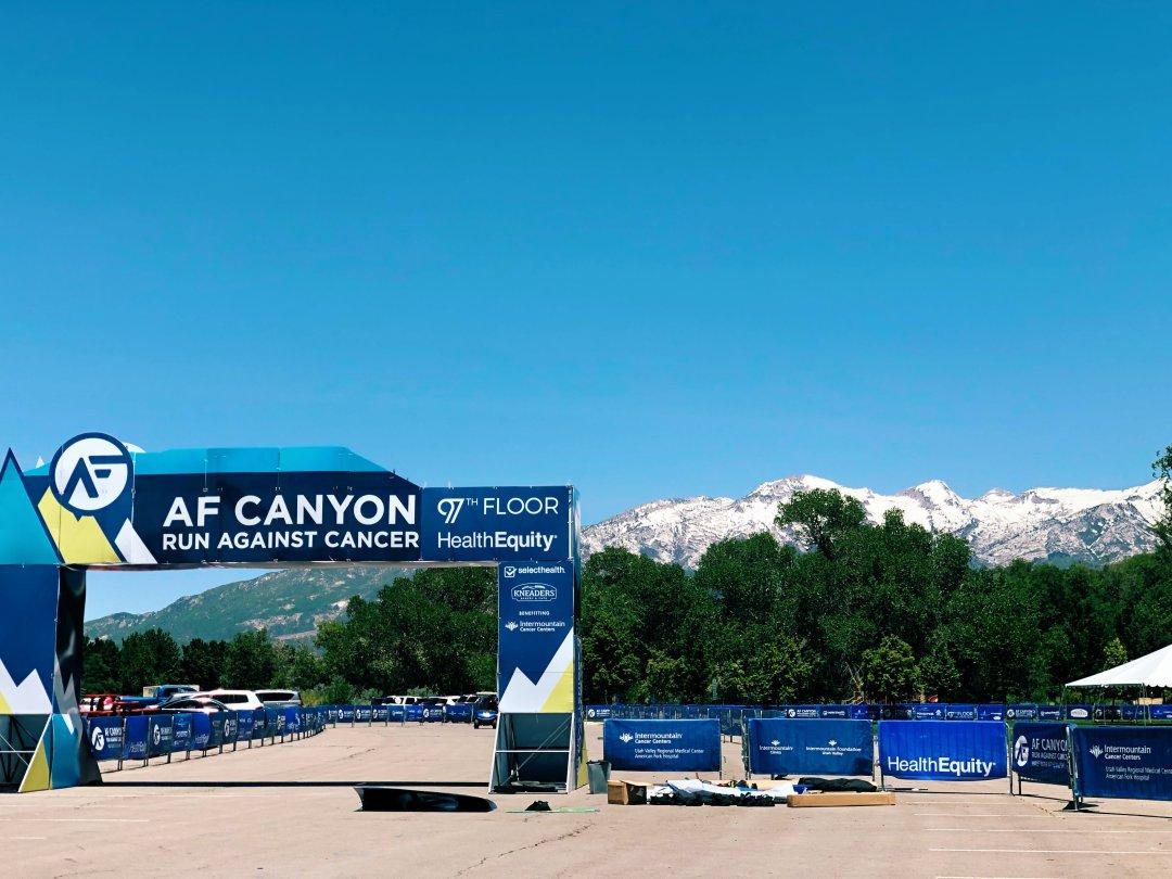 american fork canyon run finish line