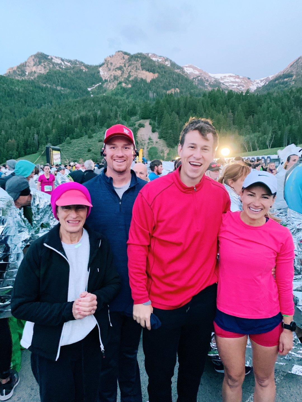 american fork canyon half marathon start line photo