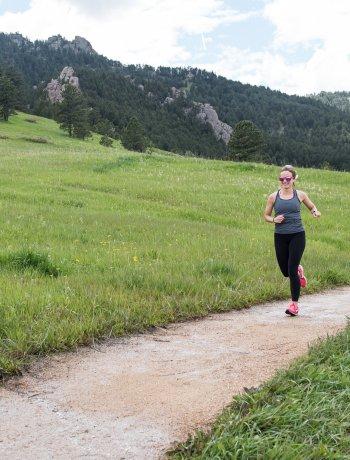 runner in chautaqua park boulder colorado