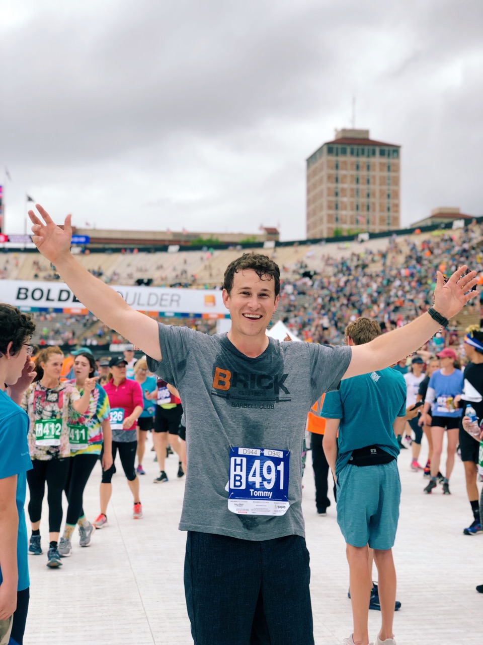 finisher at bolder boulder 2019