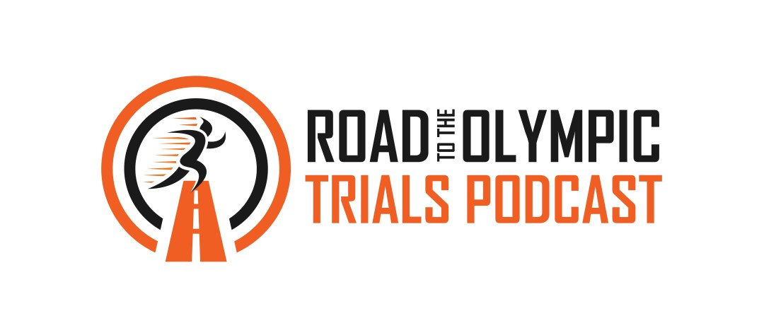 Olympic Trials running podcast logo