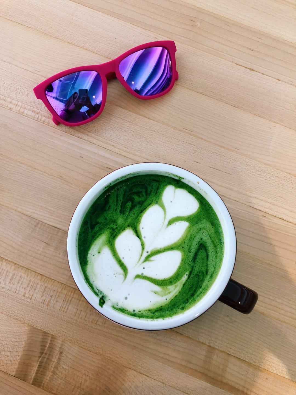 Ozo Coffee Boulder matcha latte