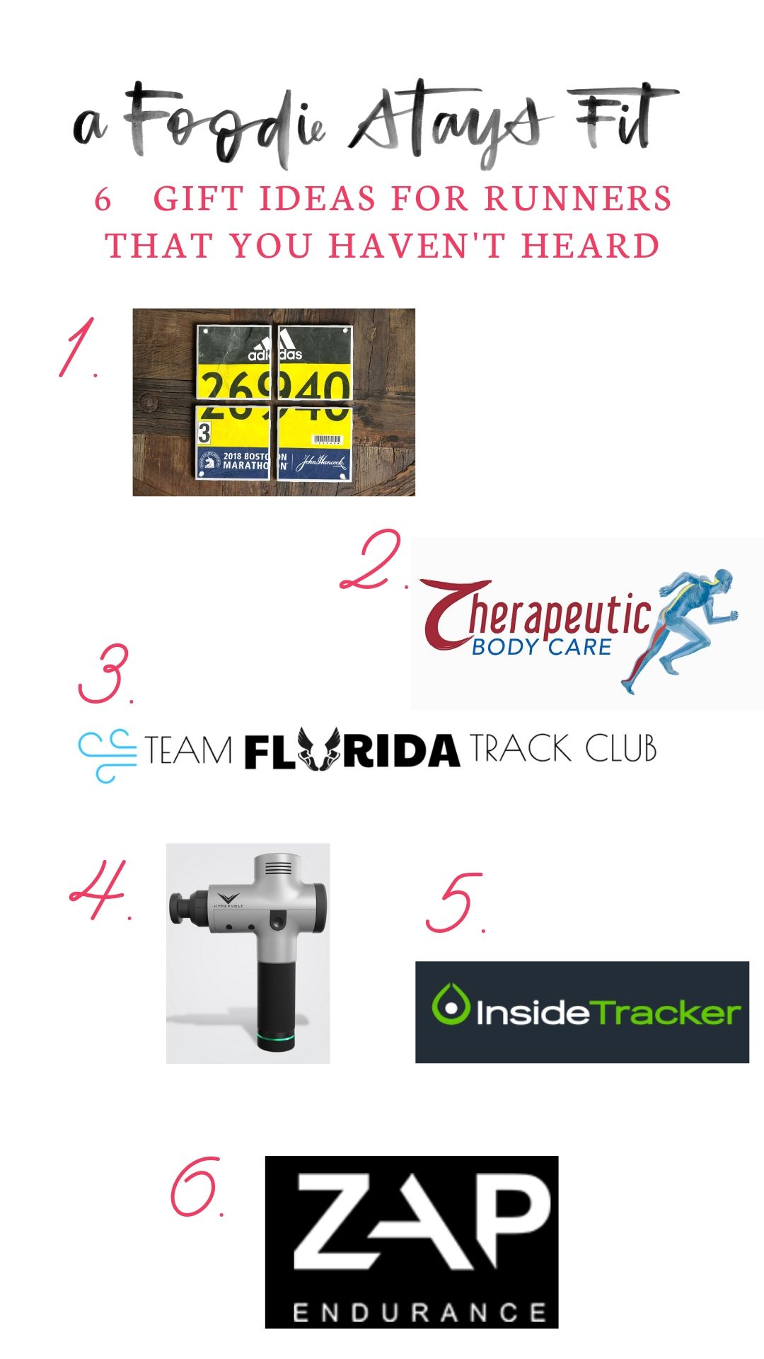 Unique Gifts For Runners | A Foodie Stays Fit