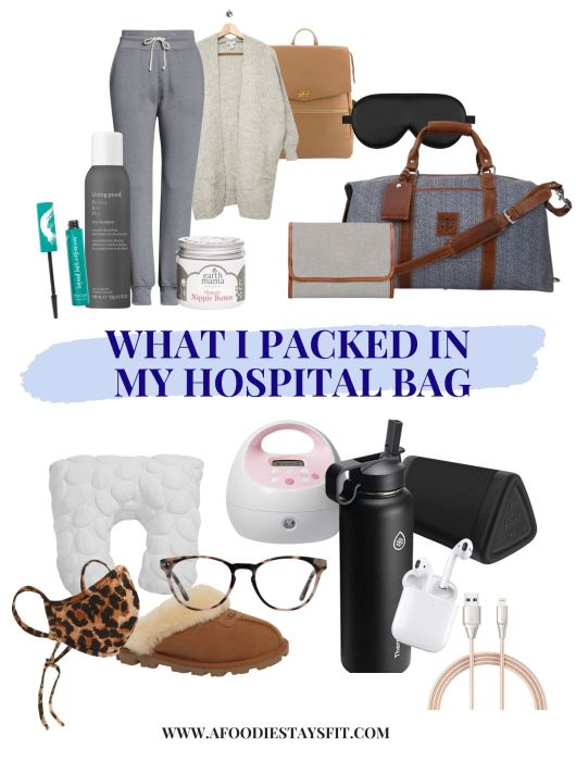 Hospital bag packing list for mom, baby and dad