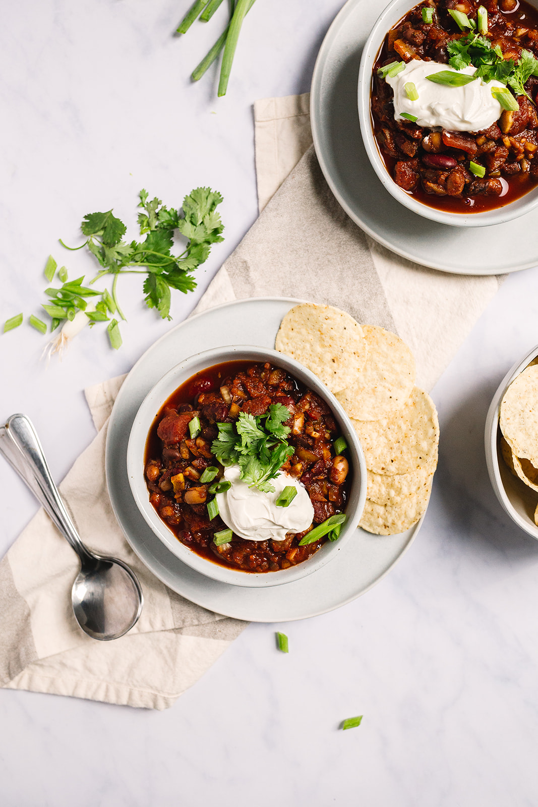 My Famous Three Bean Vegetarian Chili