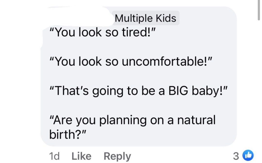 what not to say to pregnant people
