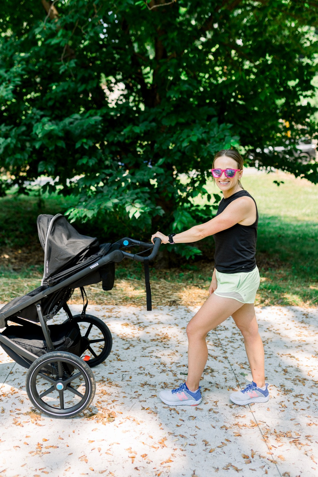How to run with baby in stroller