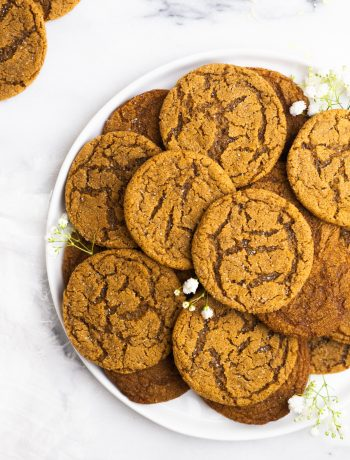 Overhead Plated Baked Cookies