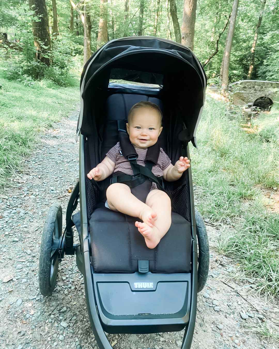 Strollers for running with a baby