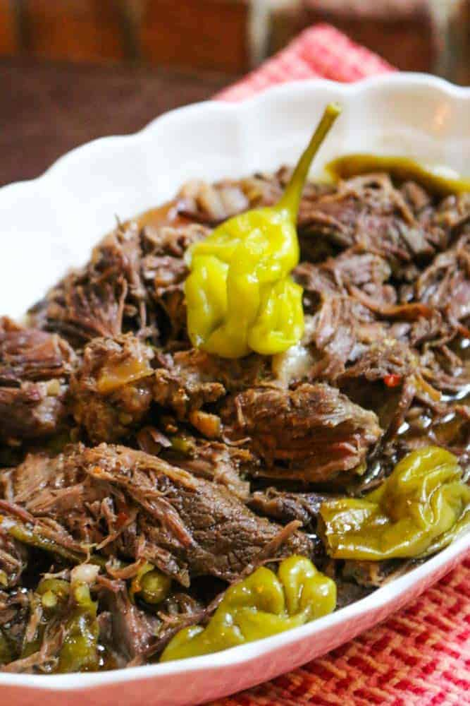 Easy Crockpot Pepperoncini Pot Roast