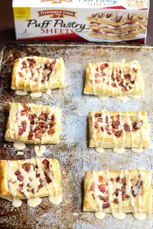 Maple Glazed Bacon and Cream Cheese Danish using Pepperidge Farm® Puff Pastry 8