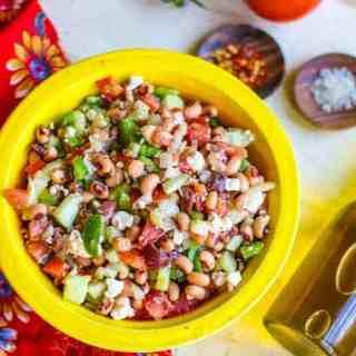 Black Eyed Pea Greek Salad
