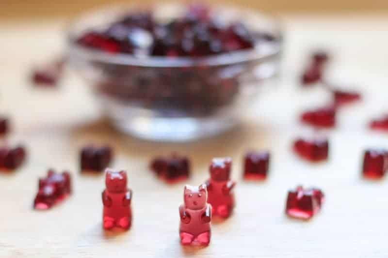#ad This is an easy, healthy Homemade Gummy Bear Fruit Snacks recipe! It is made with only 3 ingredients: Welchs 100% Grape Juice, honey, and Gelatine!