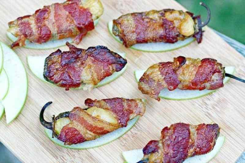 Smoked Jalapeño Poppers with Bacon, Apple, and Brie by Tasty Ever After