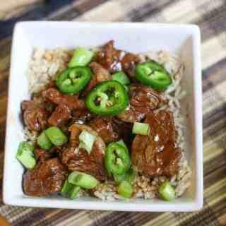 20 Minute Instant Pot Jalapeño Mongolian Beef