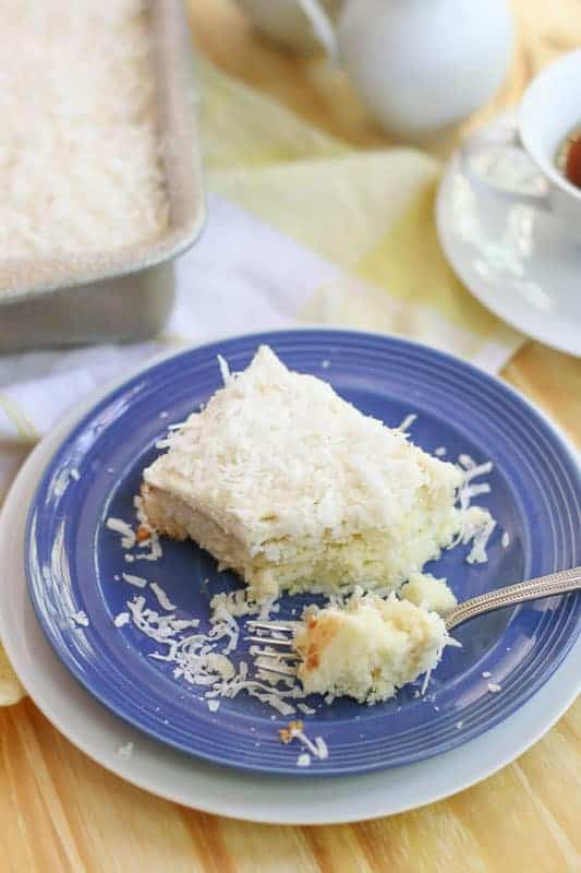 the Best Coconut Cream Poke Cake as a holiday treat