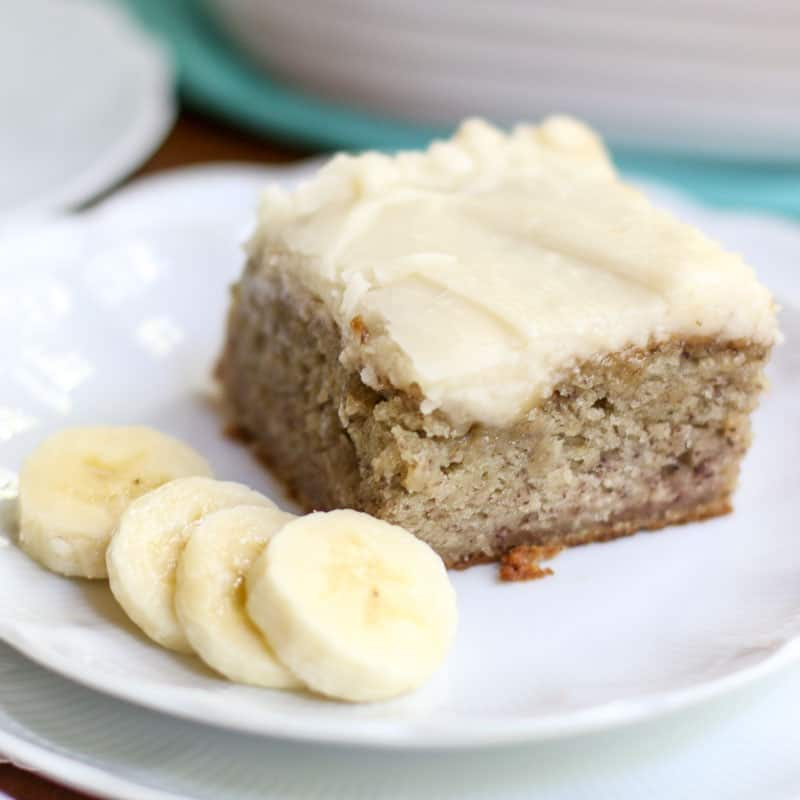 Banana Sheet Cake With Brown Butter Frosting